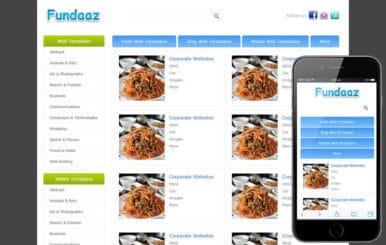 Fundaaz Free web Gallery Mobile Website Template