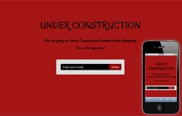 Estimated Under Construction Web and Mobile Template