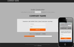 Free Under Construction Web Template and Mobile Web Template