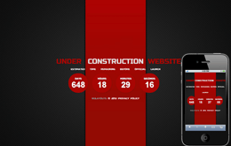 Ferrari Red Under Construction web and mobile website template for free
