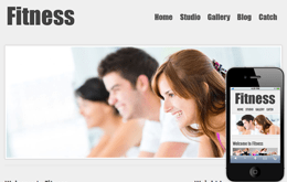 New Fitness Web template and mobile website template for free