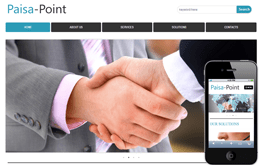 Paisa Point web and mobile website template for free