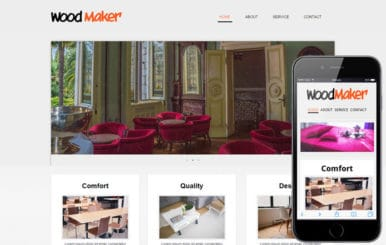 Wood Maker web and mobile website template for free