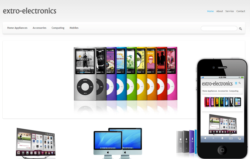 Electronics E-commerce Shopping Mobile Template Mobile website template Free