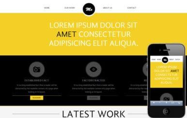 Me personal portfolio Mobile Website Template
