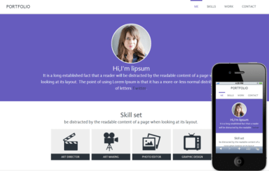 Portfolio personal web and Mobile Website Template