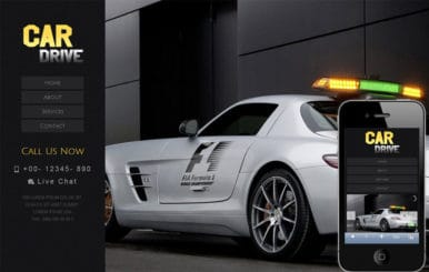 Car Drive automobile Mobile Website Template