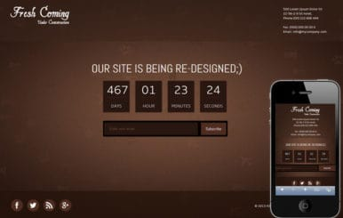 Fresh Coming Under Construction Mobile Website Template