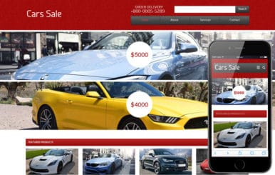 Cars Sale automobile Mobile Website Template