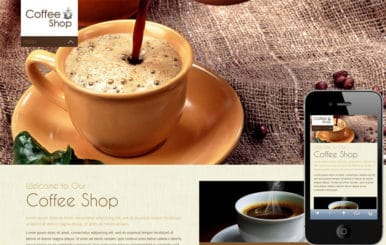 Coffee Shop Mobile Website Template