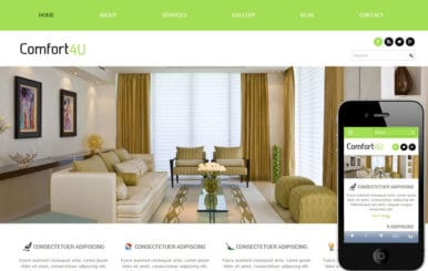 Comfort a interior architects Mobile Website Template