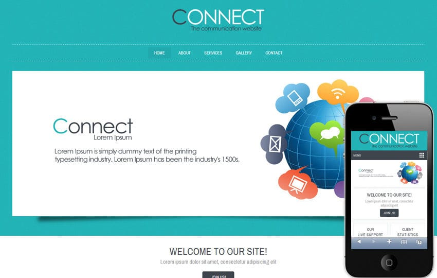 Connect Corporate Business Mobile website Template