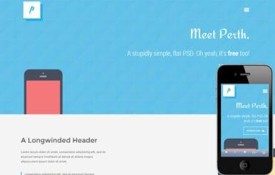 Perth flat Responsive design Mobile Website Template