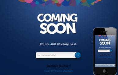 Coming soon Under Construction Responsive Website Template