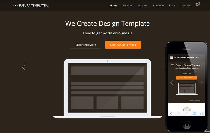 Futura a Multipurpose Flat Responsive web template Mobile website template Free