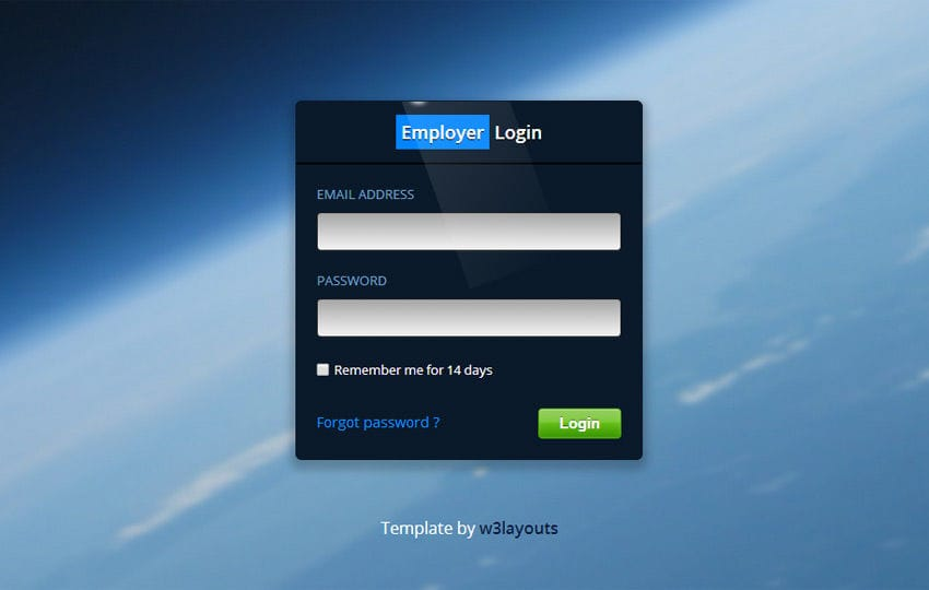 Batman Login Form Template Mobile website template Free