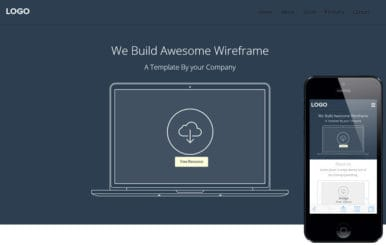 Web Wireframe a Flat Responsive web template