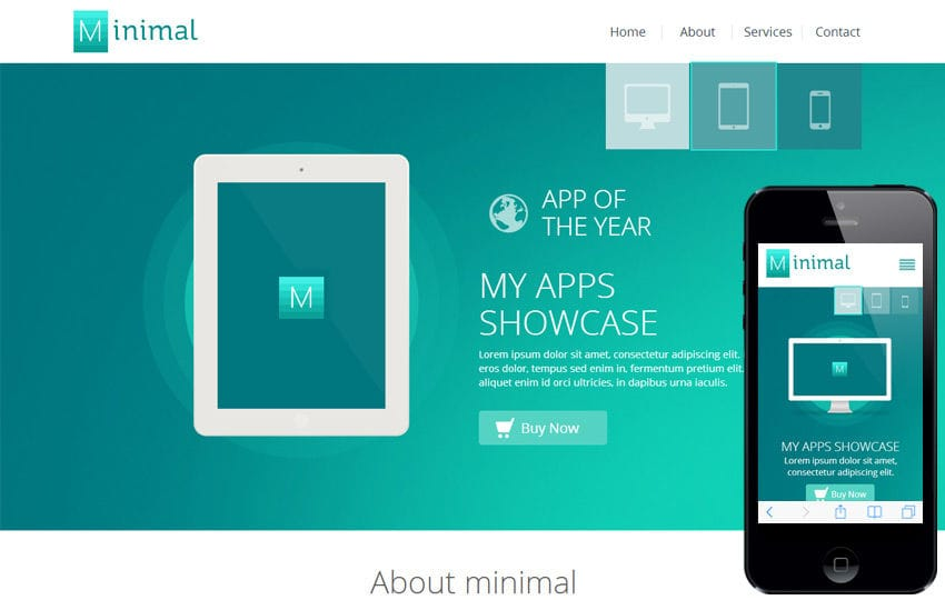 Minimal a Flat Style Bootstrap Responsive Web Template Mobile website template Free