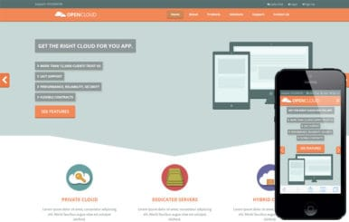 Open Cloud a Web Hosting Flat Bootstrap Responsive Web Template