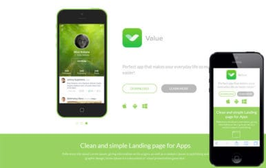 Value a Mobile App based Flat Bootstrap Responsive web template