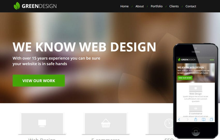 Green Design a Corporate Portfolio Flat Bootstrap Responsive web template Mobile website template Free
