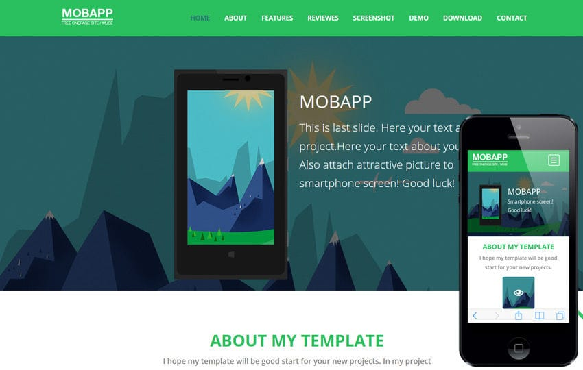 Mobapp a Mobile App based Flat Bootstrap Responsive web template Mobile website template Free