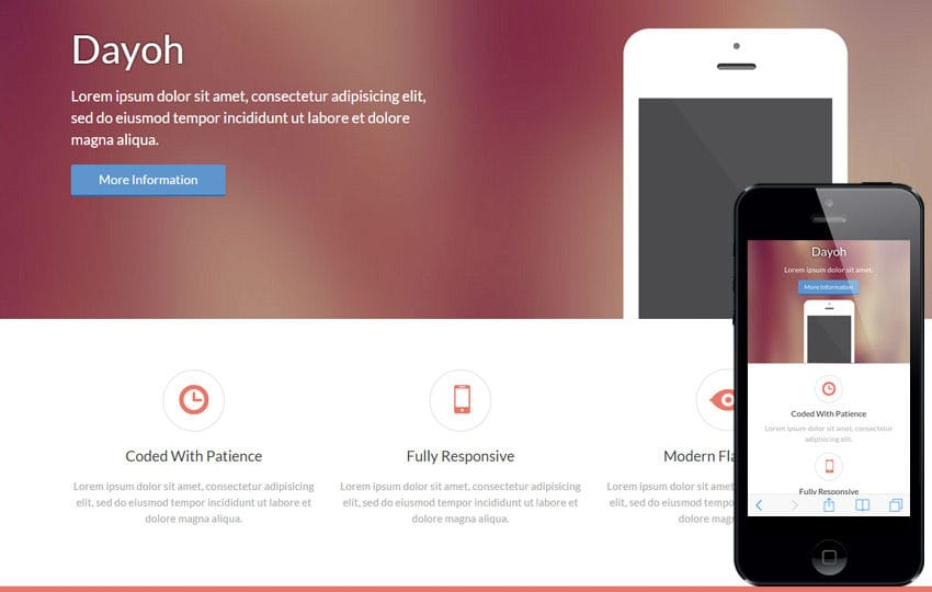 Dayoh a landingpage Multipurpose Flat Bootstrap Responsive web template