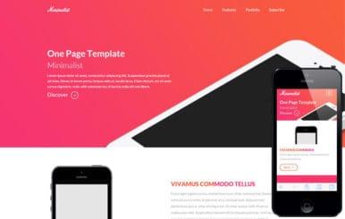 Minimalist a onepage Multipurpose Flat Bootstrap Responsive web template