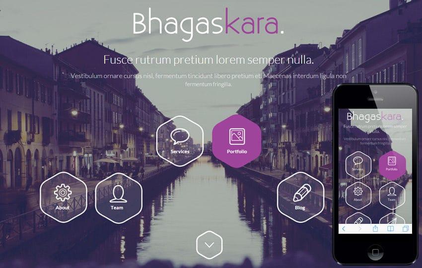 Bhagaskara a onepage Multipurpose Flat Bootstrap Responsive web template