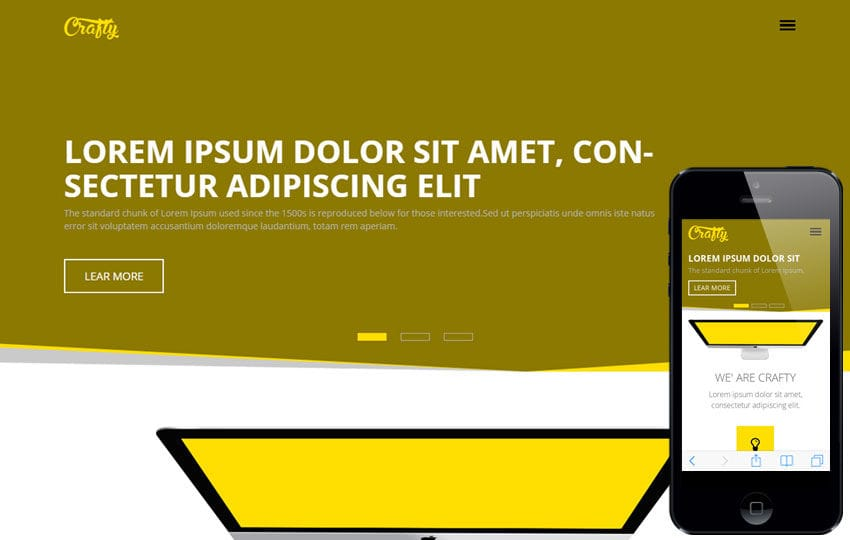 Crafty a Corporate Multipurpose Flat Bootstrap Responsive web template