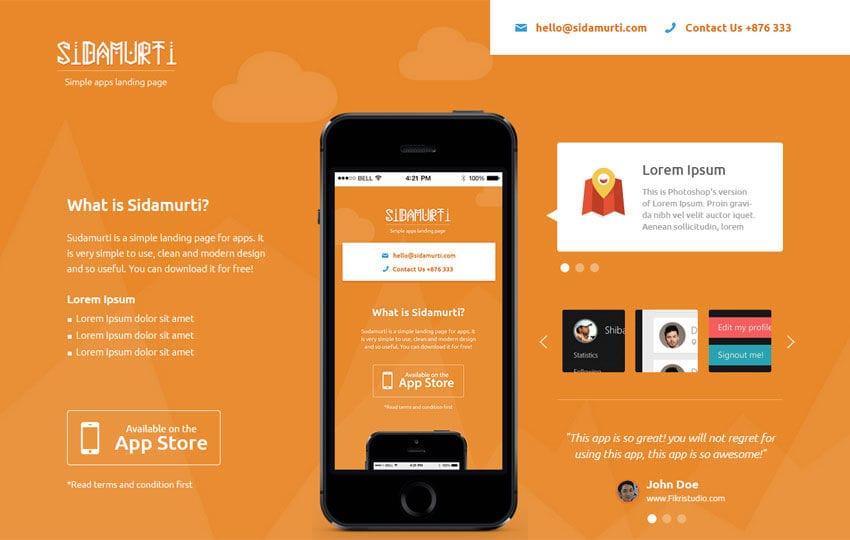 Sidamurti a landingpage Multipurpose Flat Bootstrap Responsive web template