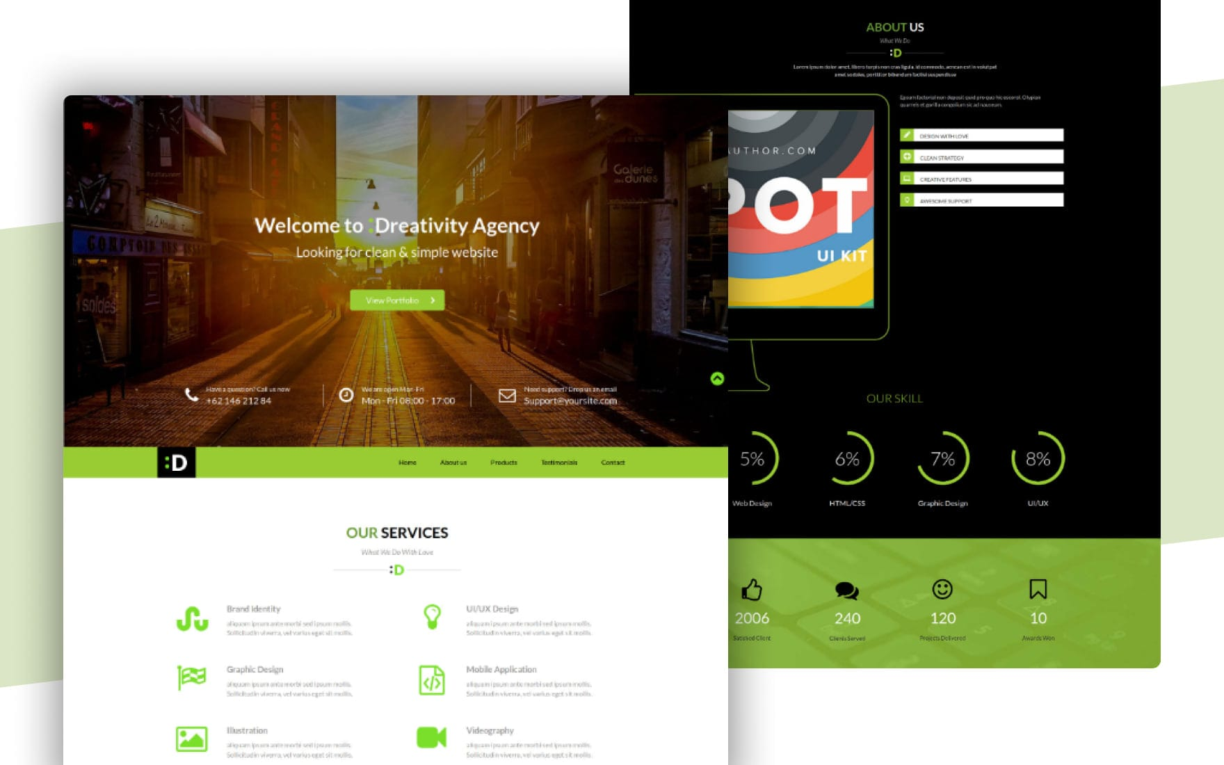 Dreativity  a Personal Portfolios Flat Bootstrap Responsive Web Template Mobile website template Free