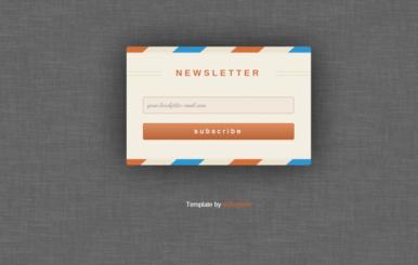 Rebounded Newsletter Signup Form Template