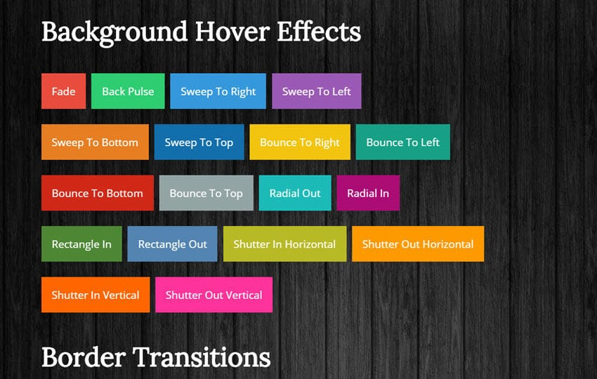 Css3 Link Hover Effects Mobile website template Free