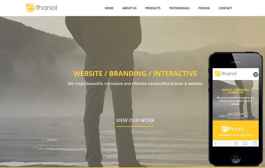 Ethanol a Corporate Category Flat Bootstrap Responsive Web Template