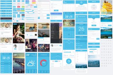 Flatastic Mega Mobile UI Kit a Flat Bootstrap Responsive Web Template