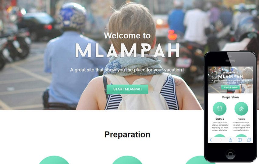 Mlampah a Travel Category Flat Bootstrap Responsive Web Template