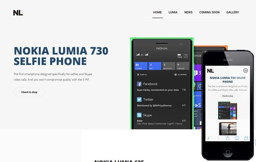 Nl7 a landingpage Multipurpose Flat Bootstrap Responsive Web Template