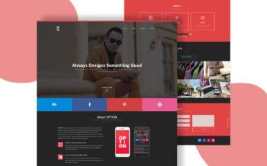 Option a Personal Portfolios Flat Bootstrap Responsive Web Template