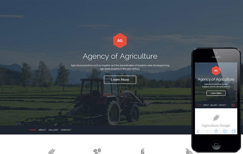 Agro Agency a Agriculture Category Flat Bootstrap Responsive Web Template