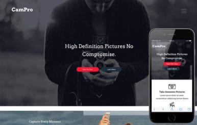 Campro a Photographer Portfolio Flat Responsive Web Template