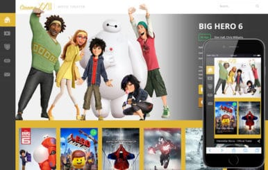 Cinema – Entertainment Category Flat Bootstrap Responsive Web Template