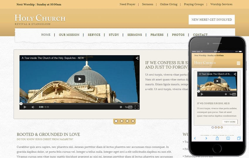 Holy Church a Religious Category Flat Bootstrap Responsive Web Template Mobile website template Free