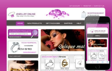 Jewelry Online a Jewellery Category Flat Responsive Web Template