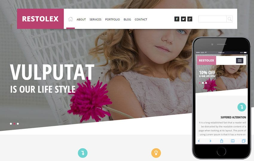 Restolex a Interior Architects Multipurpose Flat Bootstrap Responsive Web Template