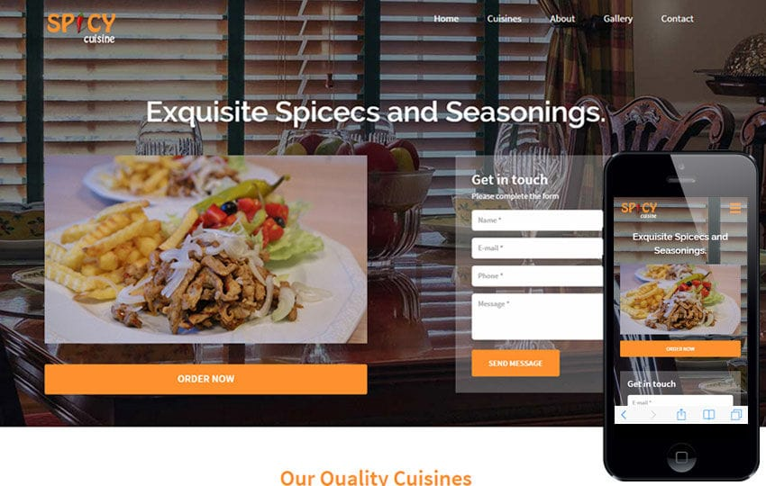 Spicy Cuisine a Hotel Category Flat Bootstrap Responsive Web Template