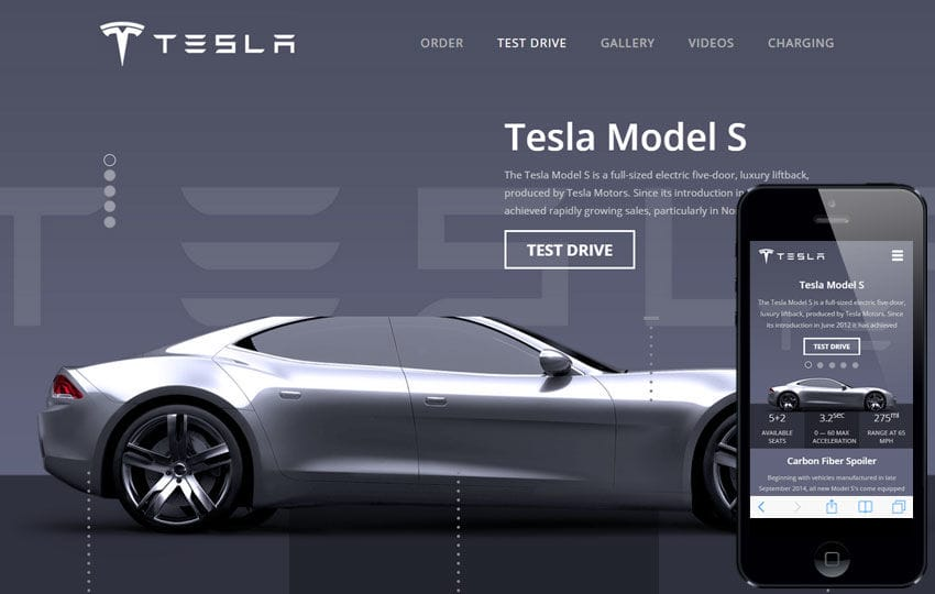 Tesla a Auto Mobile Category Flat Bootstrap Responsive Web Template Mobile website template Free