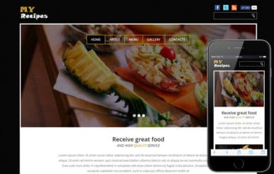 My Recipes a Hotel Category Flat Bootstrap Responsive Web Template