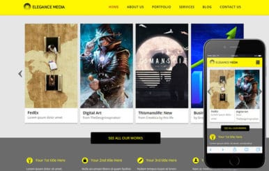 Elegance Media a Entertainment Category Flat Bootstrap Responsive web template