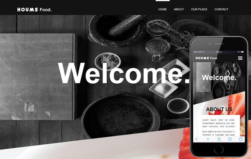 Houms Food a Food Category Flat Bootstrap Responsive Web Template
